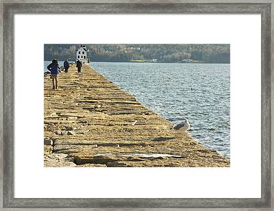 Rockland Breakwater Lighthouse Coast Of Maine Framed Print