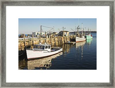 Rockland Maine Fishing Boats And Harbor Framed Print