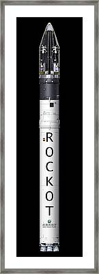 Rockot Launcher With Satellites Framed Print by P.carril/esa