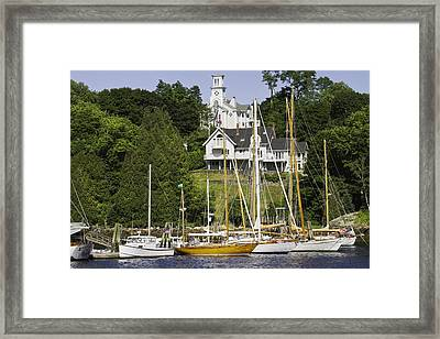 Rockport On The Coast Of Maine Framed Print