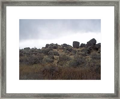 Rocks Framed Print by Angela Stout