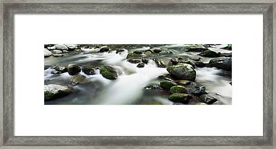 Rocks In A River, Little Pigeon River Framed Print by Panoramic Images