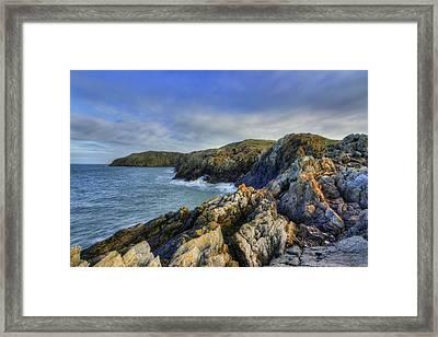 Rocky Ocean Framed Print by Ian Mitchell