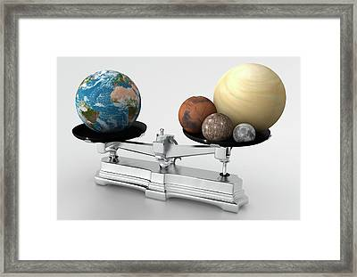 Rocky Planets' Mass Compared To Earth Framed Print