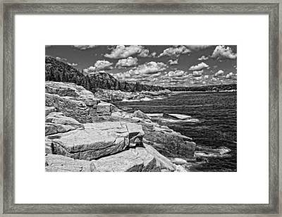 Rocky Summer Seascape Acadia National Park Photograph Framed Print by Keith Webber Jr