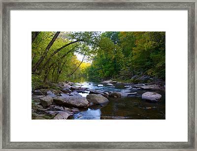 Rocky Wissahickon Creek Framed Print by Bill Cannon