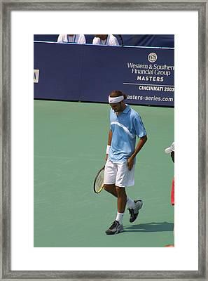 Roger Federer After 1st Slam Framed Print