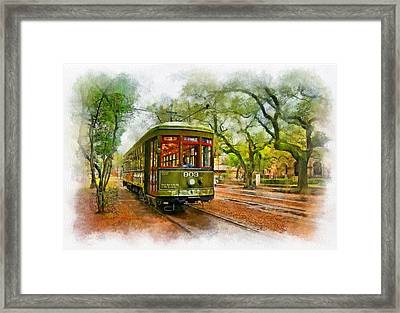 Rollin' Thru New Orleans 2 Framed Print by Steve Harrington