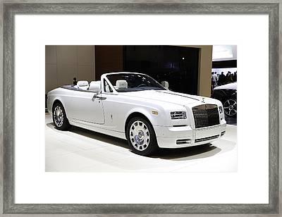 Rolls-royce Showcased At The New York Auto Show Framed Print by E Osmanoglu