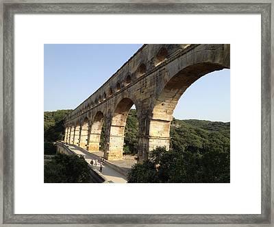 Roman Aqueduct Framed Print by Pema Hou