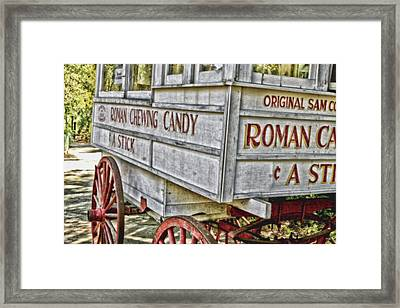 Roman Chewing Candy Framed Print