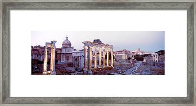 Roman Forum, Rome, Italy Framed Print by Panoramic Images
