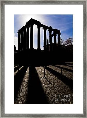 Roman Temple Silhouette Framed Print by Jose Elias - Sofia Pereira