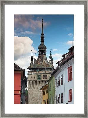 Romania, Transylvania, Sighisoara Framed Print by Walter Bibikow
