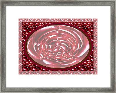 Romantic Decor Using Heart Shaped Flower Petals For Transformation  With Photo Shop Utilities Framed Print by Navin Joshi