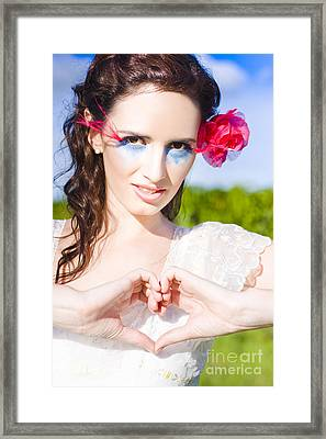 Romantic Gesture Framed Print