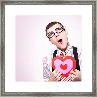 Romantic Nerd Dreaming Of A Long Lost Love Framed Print by Jorgo Photography - Wall Art Gallery