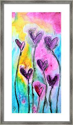 Romantico Jardin Framed Print