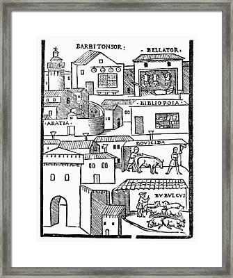 Romberch Memory, 1553 Framed Print by Granger