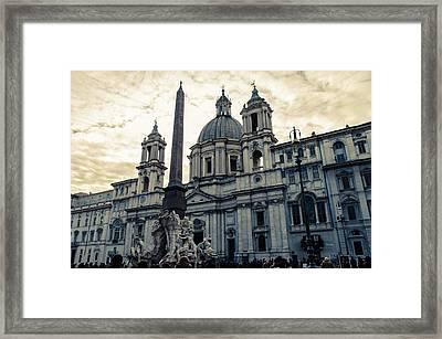 Rome - Piazza Navona Framed Print by Andrea Mazzocchetti