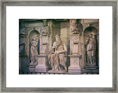 Rome, Italy. Michelangelos Moses Framed Print by Ken Welsh
