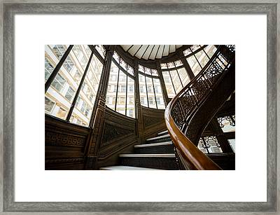 Rookery Building Up The Oriel Staircase Framed Print