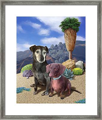 Rooney And George Framed Print by Snake Jagger