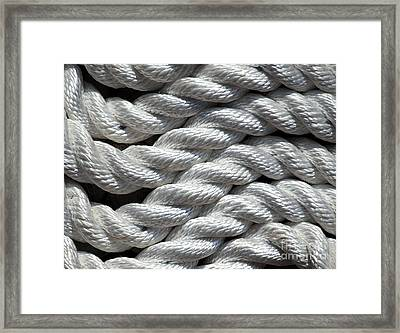 Rope Pattern Framed Print by Yali Shi