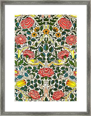 Rose Design Framed Print by William Morris