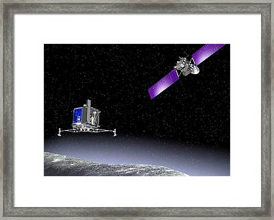 Rosetta Spacecraft Framed Print by European Space Agency,j. Huart