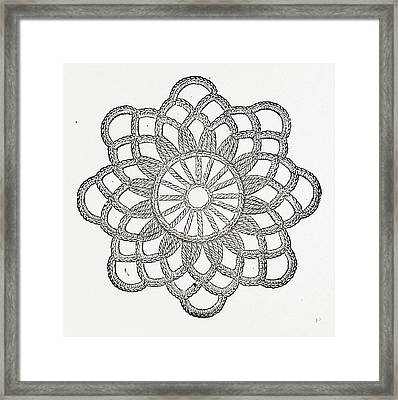 Rosette, Needlework Framed Print by Litz Collection