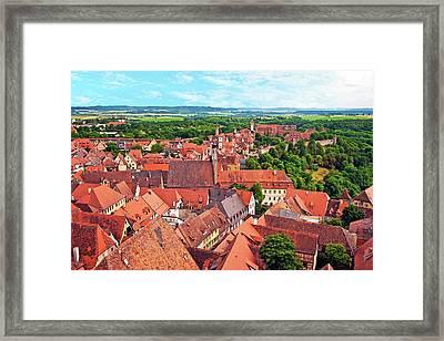 Rothenburg Ob Der Tauber, Bavaria Framed Print by Miva Stock