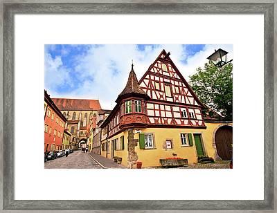 Rothenburg Ob Der Tauber, Germany Framed Print by Miva Stock