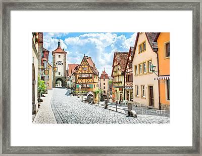Rothenburg Ob Der Tauber Framed Print