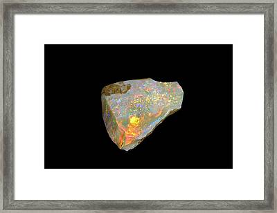 Rough Opal Framed Print
