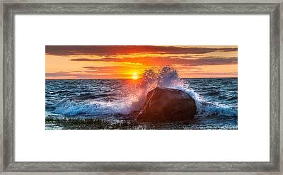 Rough Sea Framed Print