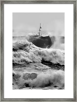Rough Sea Training Framed Print