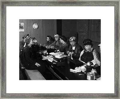 Roundhouse Wipers 1943 Framed Print by Mountain Dreams