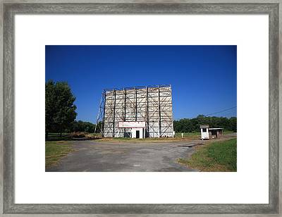 Route 66 Drive-in Movie Framed Print by Frank Romeo