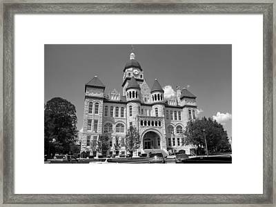 Route 66 - Jasper County Courthouse Framed Print by Frank Romeo