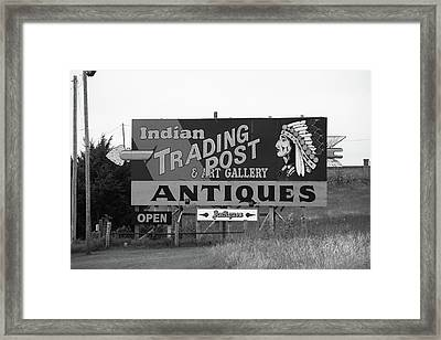 Route 66 - Oklahoma Trading Post Framed Print by Frank Romeo