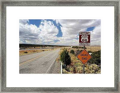 Route 66 Sign Framed Print by Michael Szoenyi