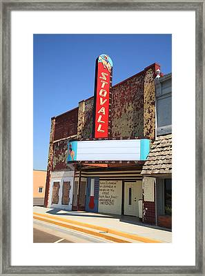 Route 66 - Stovall Theater Framed Print by Frank Romeo