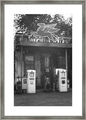 Route 66 Vintage Pumps Framed Print by Frank Romeo