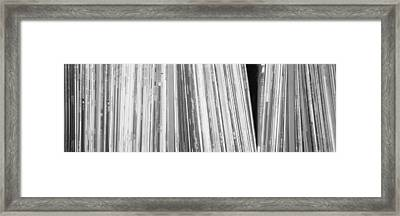 Row Of Music Records, Germany Framed Print by Panoramic Images