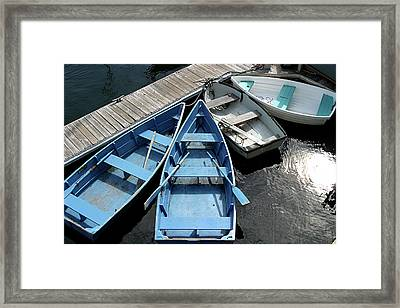 Rowboats 2 Framed Print by Jerry Patterson