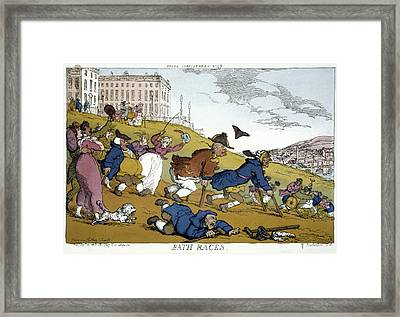 Rowlandson Cartoon, 1810 Framed Print by Granger