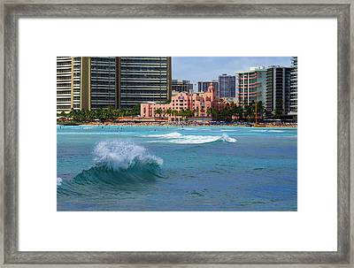 Royal Hawaiian Hotel Framed Print by Kevin Smith