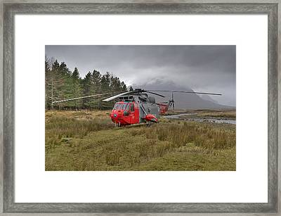 Royal Navy Sar Sea King Xz920 Glencoe Framed Print