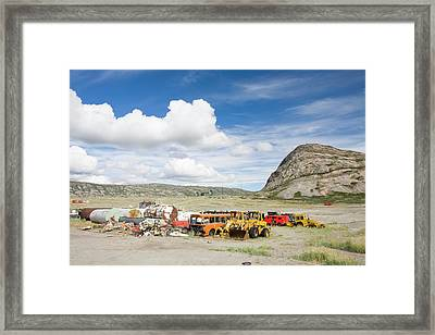 Rubbish Abandoned On A Tip Framed Print by Ashley Cooper